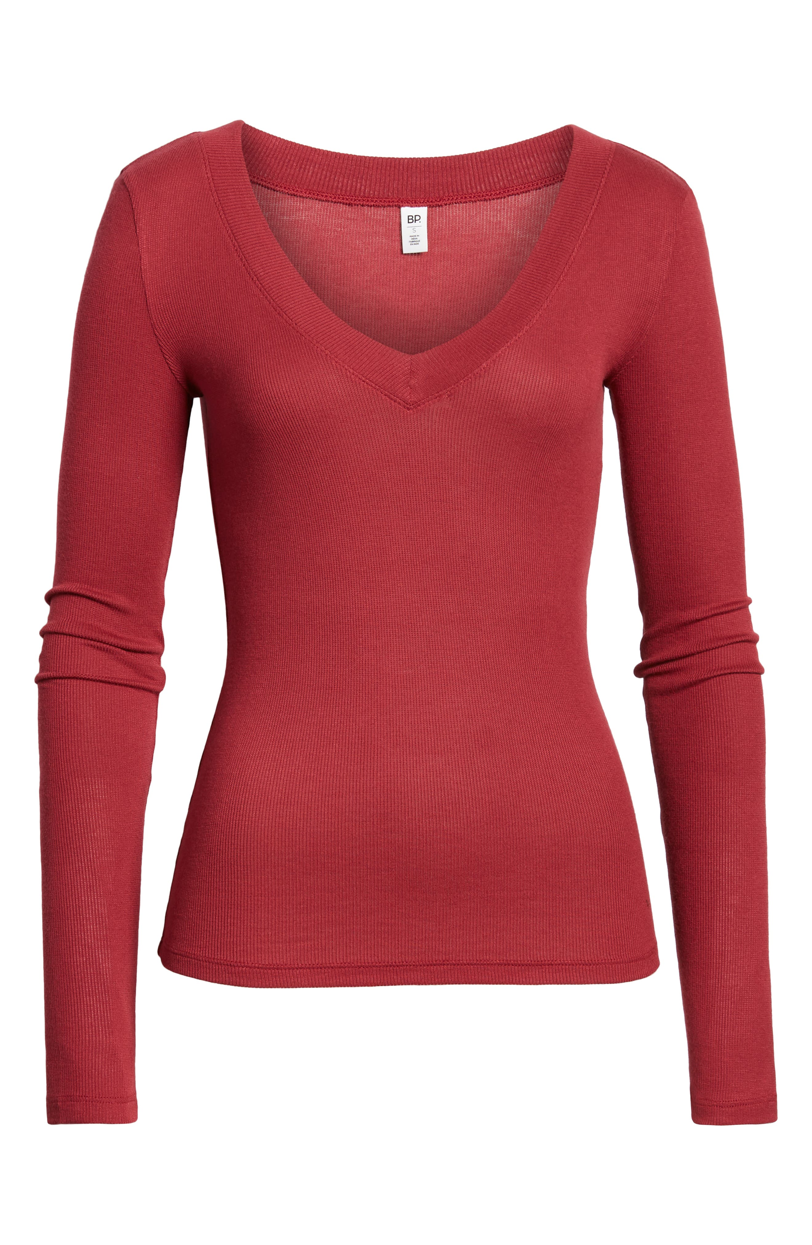 ,                             Fitted V-Neck Tee,                             Alternate thumbnail 12, color,                             601