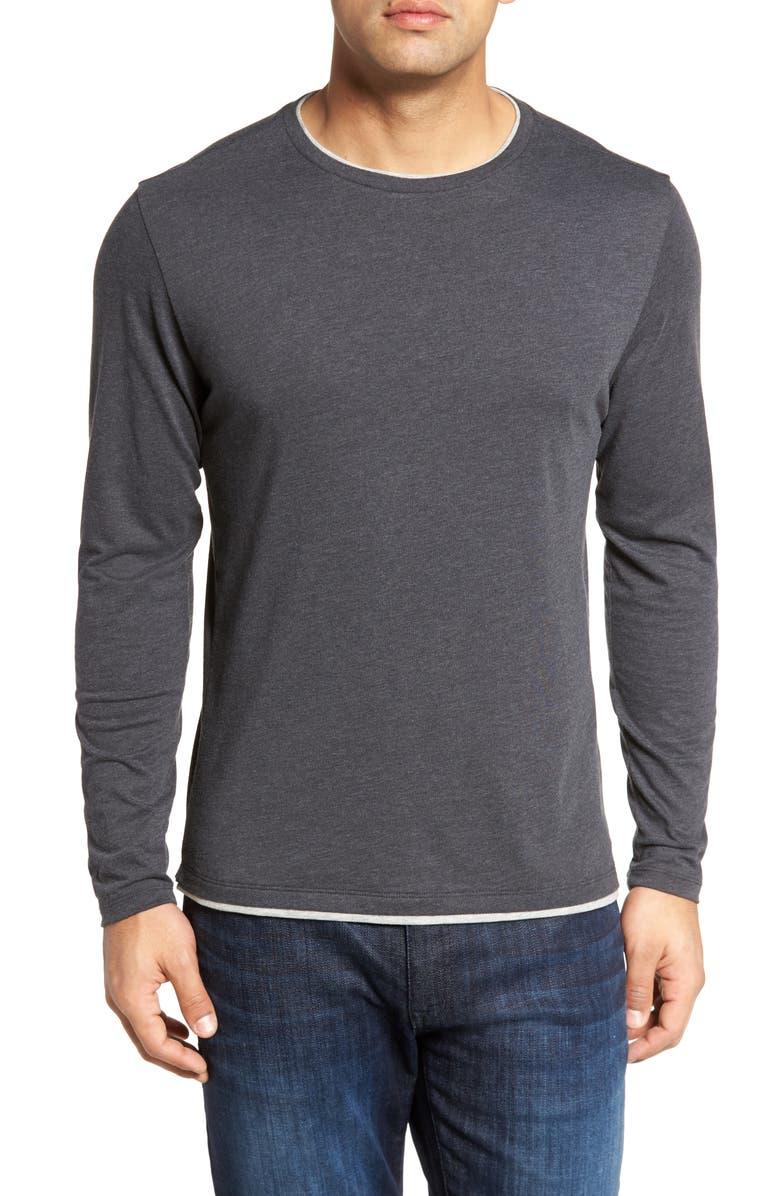 ROBERT BARAKETT Halifax Long Sleeve Crewneck T-Shirt, Main, color, 020