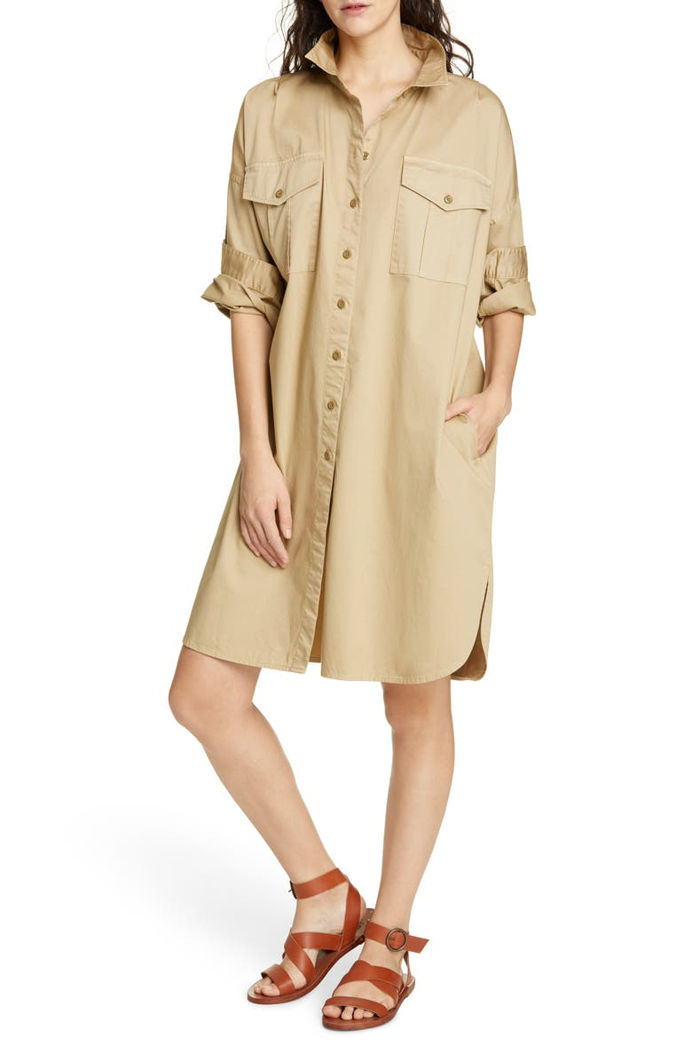 ALEX MILL Military Shirtdress, Main, color, 281