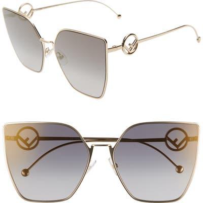 Fendi F Is Fendi 6m Oversized Sunglasses - Gold/ Grey