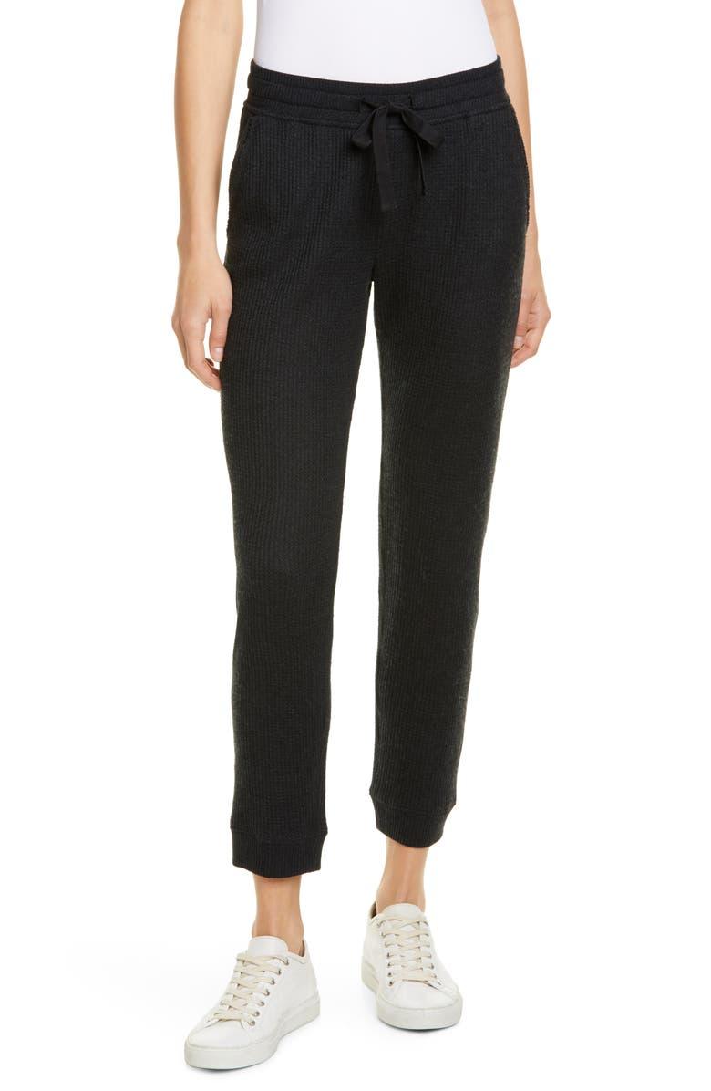 ATM ANTHONY THOMAS MELILLO Waffle Knit Crop Pants, Main, color, BLACK