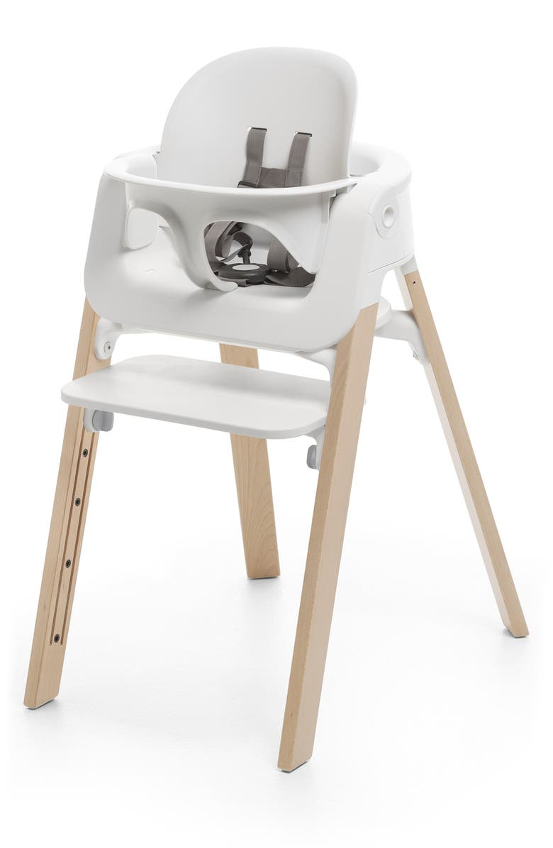 STOKKE Steps<sup>™</sup> Complete Highchair with Chair, Baby Set, Cushion & Tray, Main, color, NATURAL/ WHITE/ GREY
