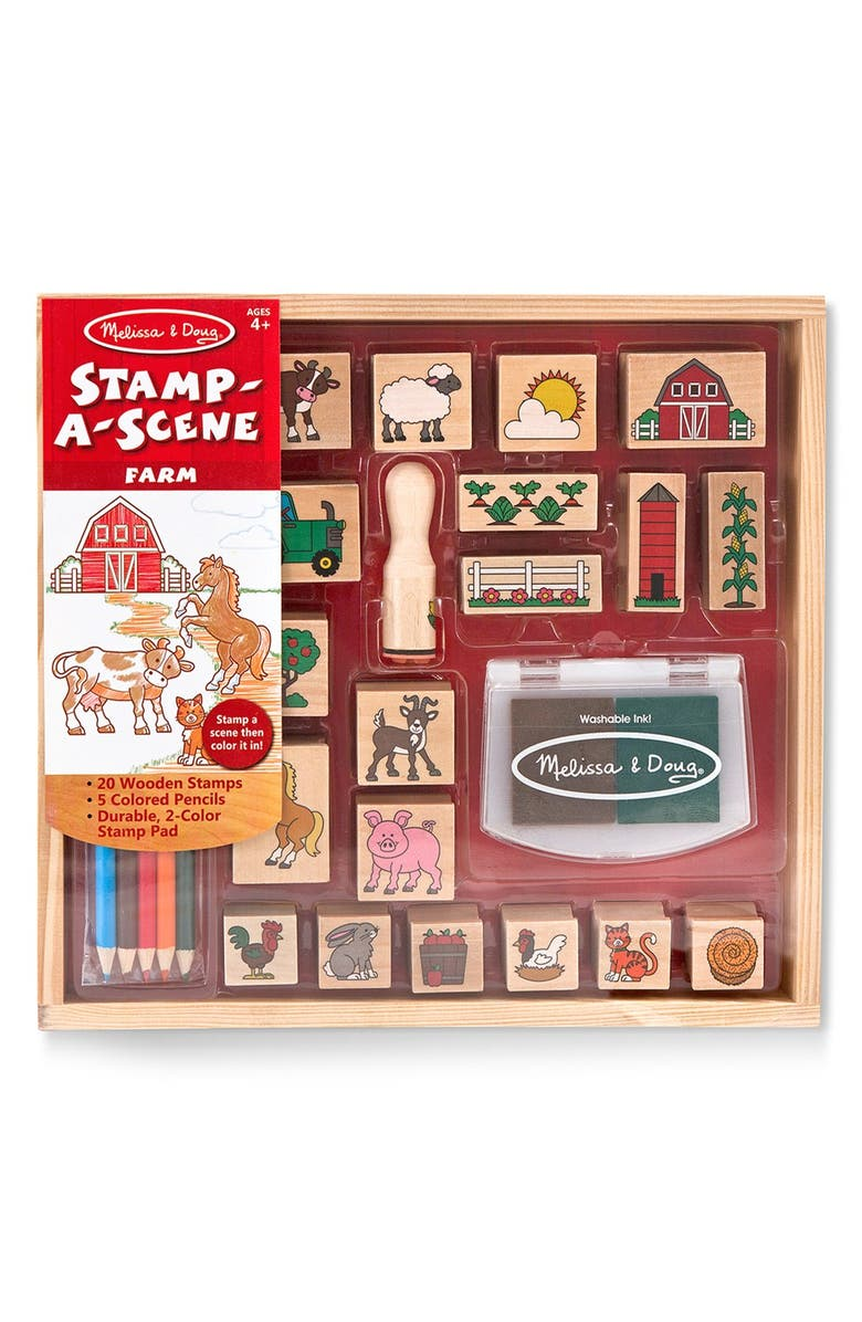 MELISSA & DOUG 'Stamp-A-Scene - Farm' Stamp Set, Main, color, 000