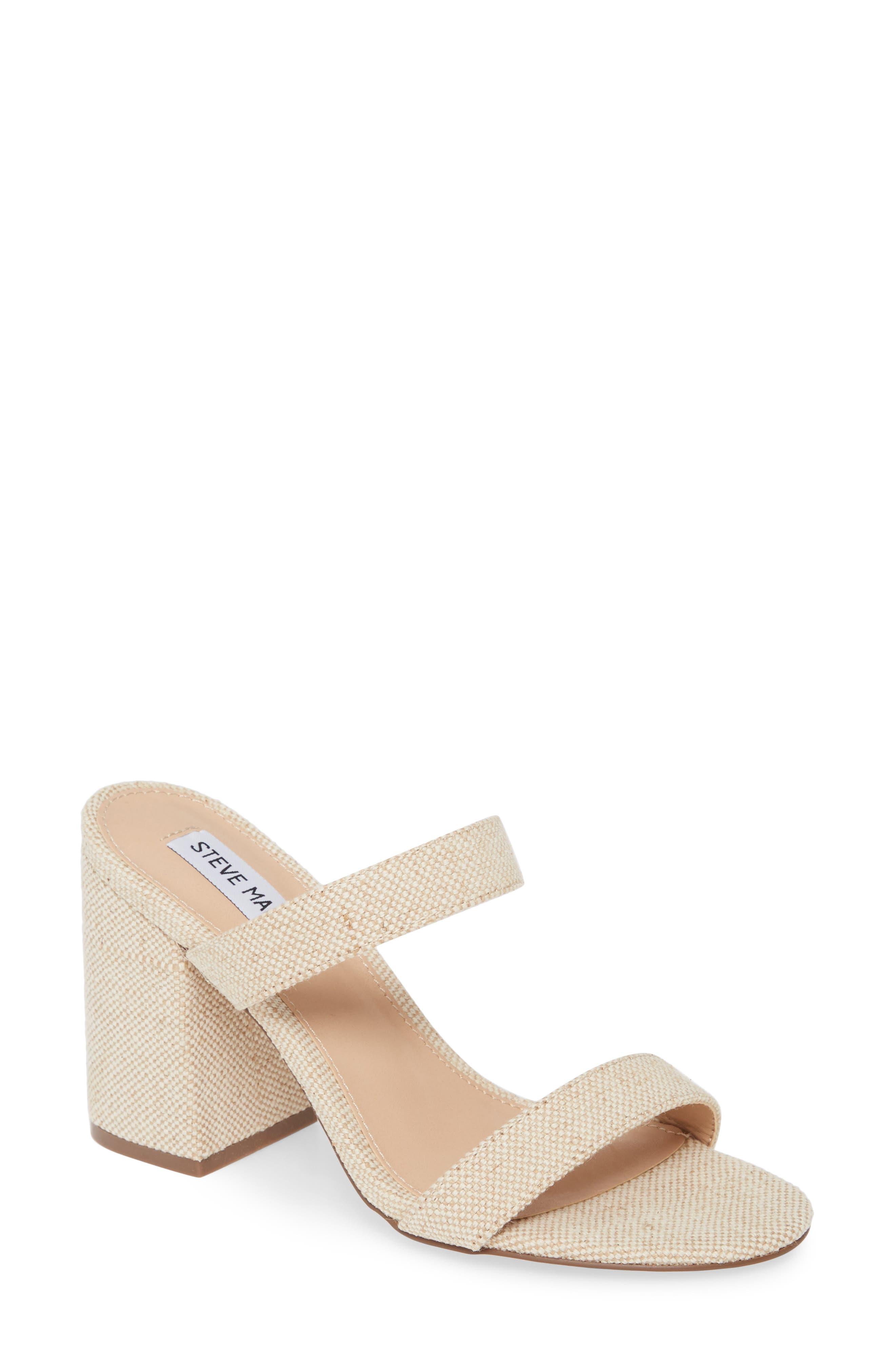 Steve Madden Lounge Block Heel Slide Sandal (Women)