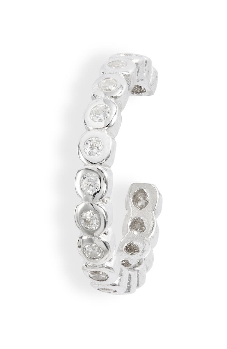 ADINA'S JEWELS Adina's Jewels Bella Ear Cuff, Main, color, SILVER