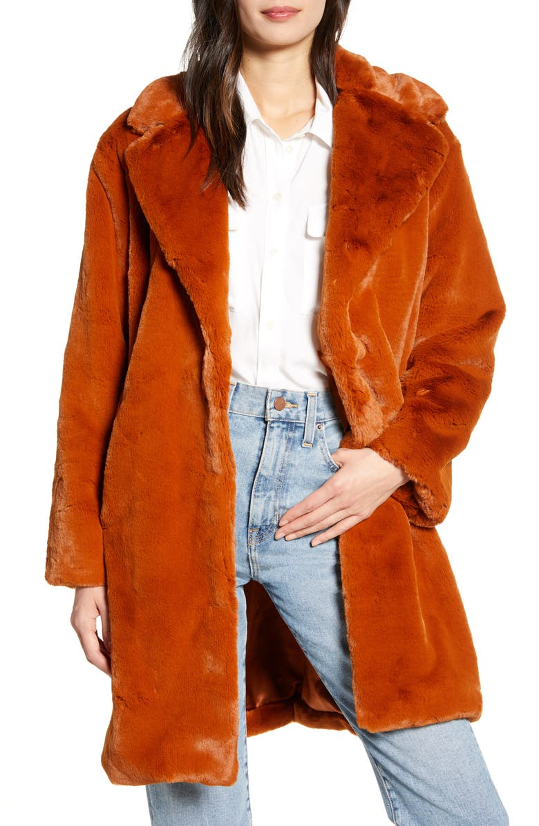Faux Fur Coat by Something Navy