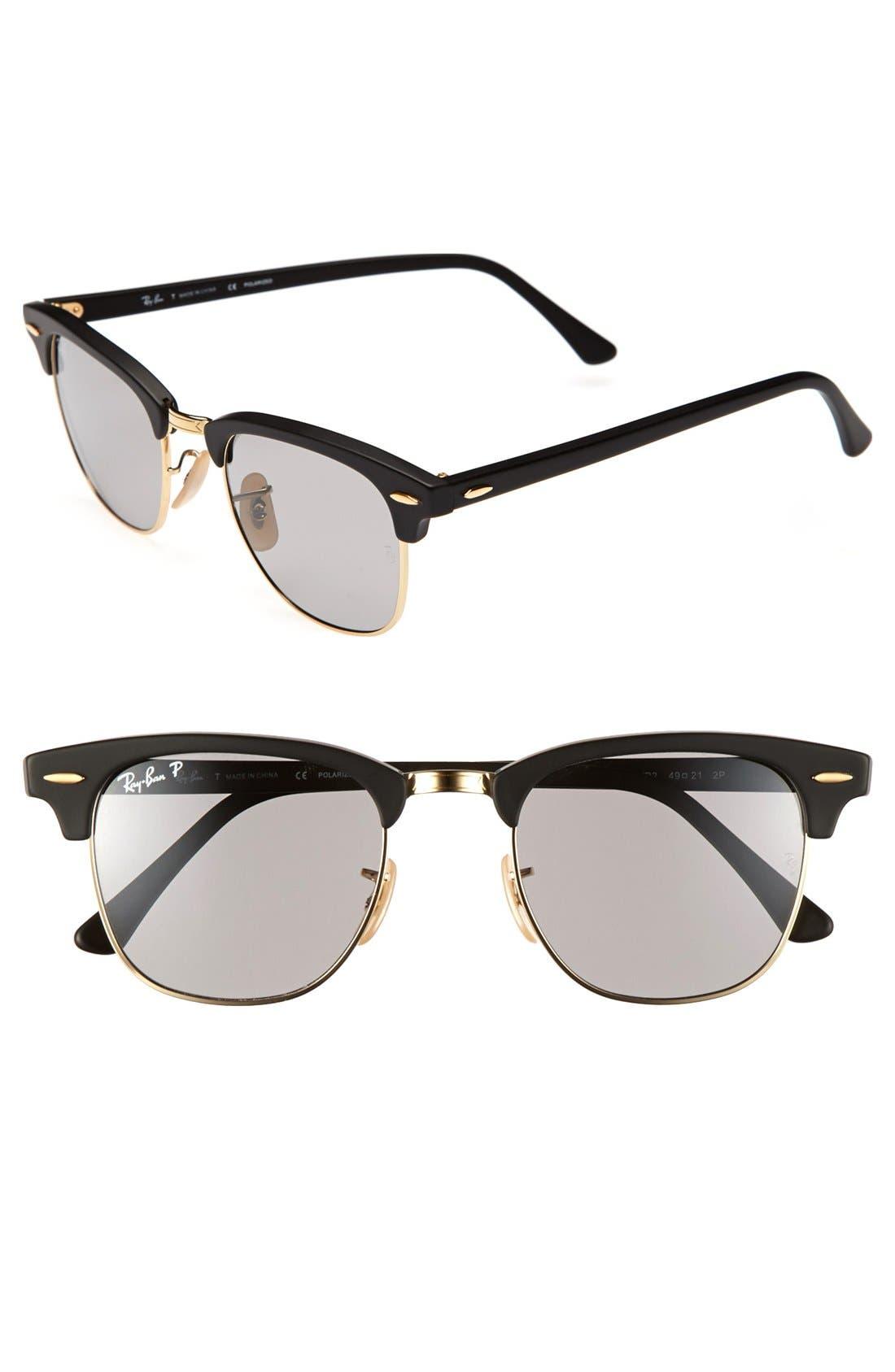 ,                             'Clubmaster' 49mm Polarized Sunglasses,                             Main thumbnail 2, color,                             020