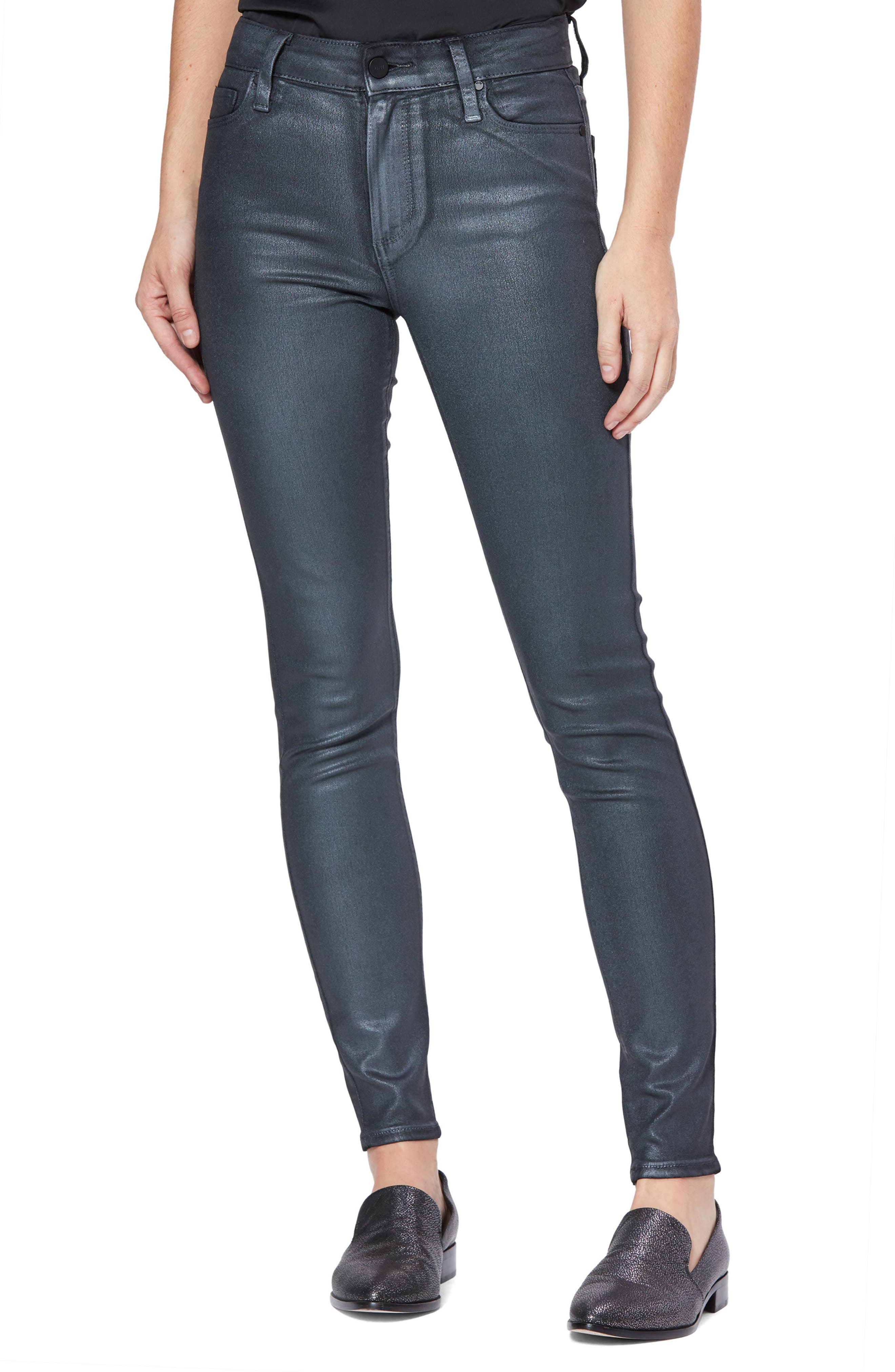Image of PAIGE Transcend Hoxton High Waist Coated Skinny Jeans