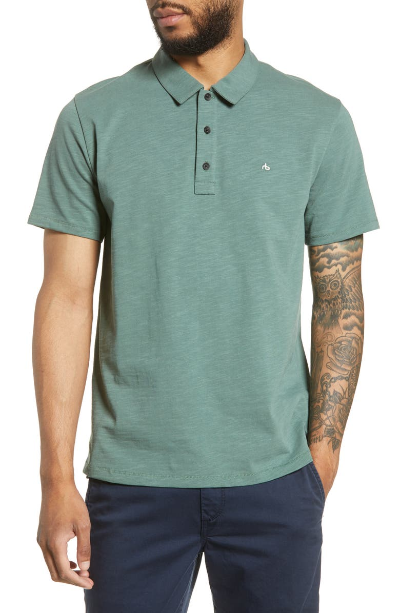 RAG & BONE Classic Fit Slub Jersey Polo, Main, color, 312