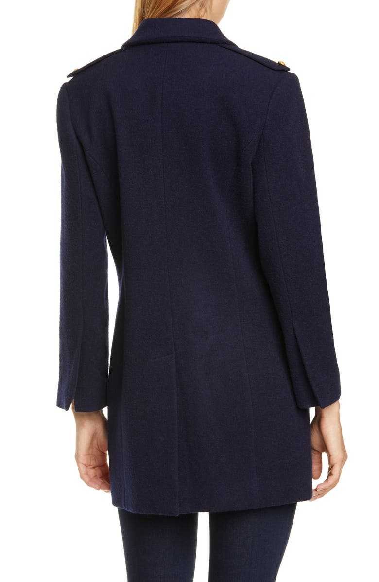 L'AGENCE Emmi Wool Blend Peacoat, Main, color, NAVY