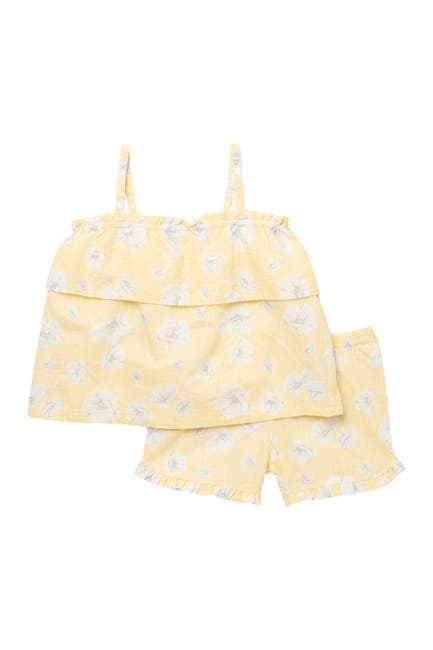 Image of 7 For All Mankind Patterned Top & Shorts Set