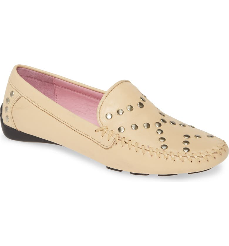 ROBERT ZUR Tinae Studded Loafer, Main, color, BLUSH LEATHER