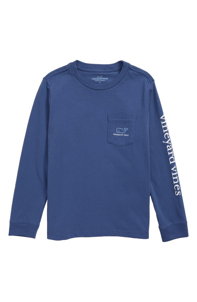 VINEYARD VINES Vintage Whale Pocket T-Shirt, Main, color, MOONSHINE