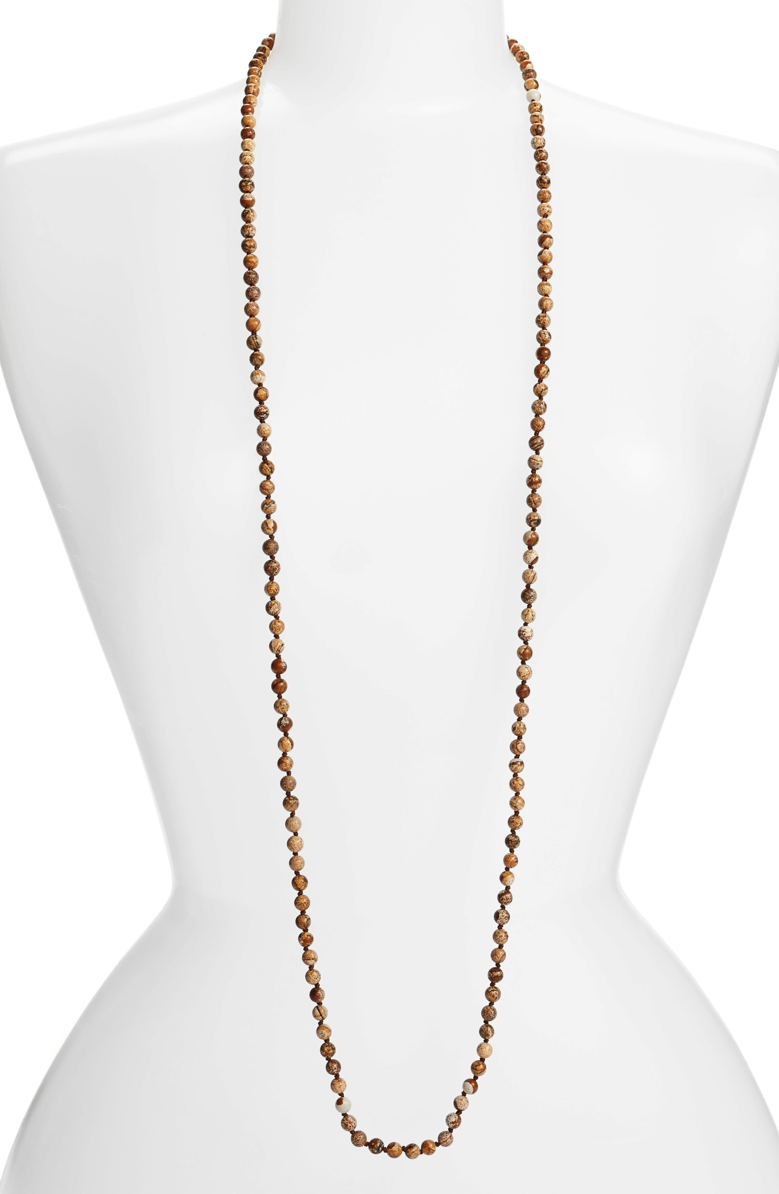 ,                             Love's Affect Knotted Semiprecious Stone Necklace,                             Main thumbnail 5, color,                             200