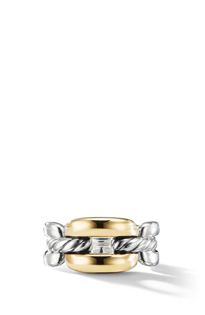 DAVID YURMAN Wellesley Link Chain Link Ring with 18K Gold, Main, color, 18K YELLOW GOLD/ SILVER