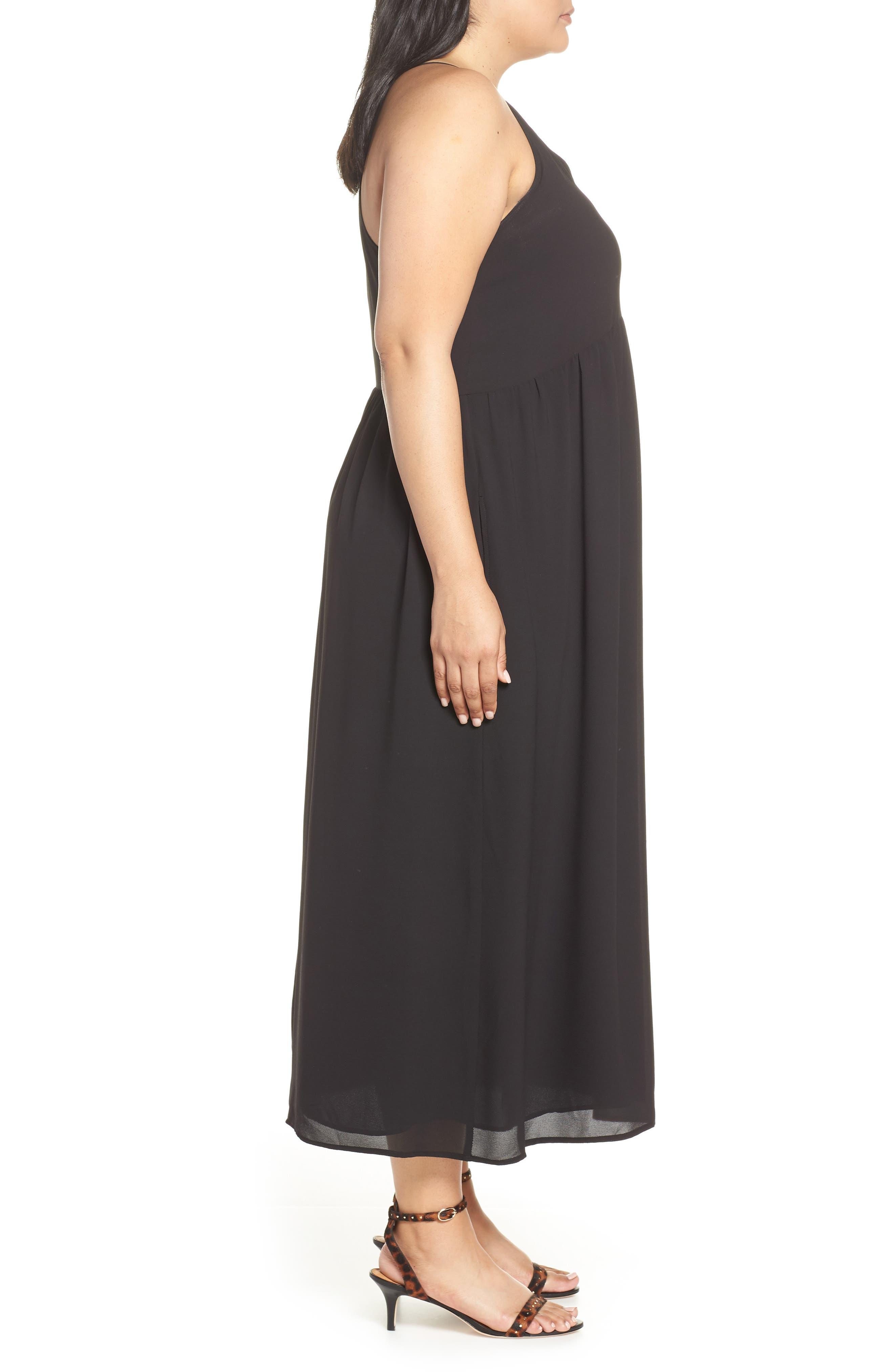,                             x Hi Sugarplum! Palm Springs Festival Maxi Dress,                             Alternate thumbnail 4, color,                             BLACK