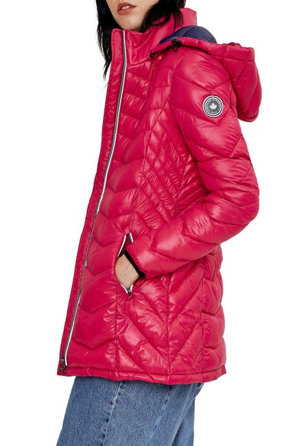 Image of NOIZE Claire Lightweight Puffer Mid Jacket