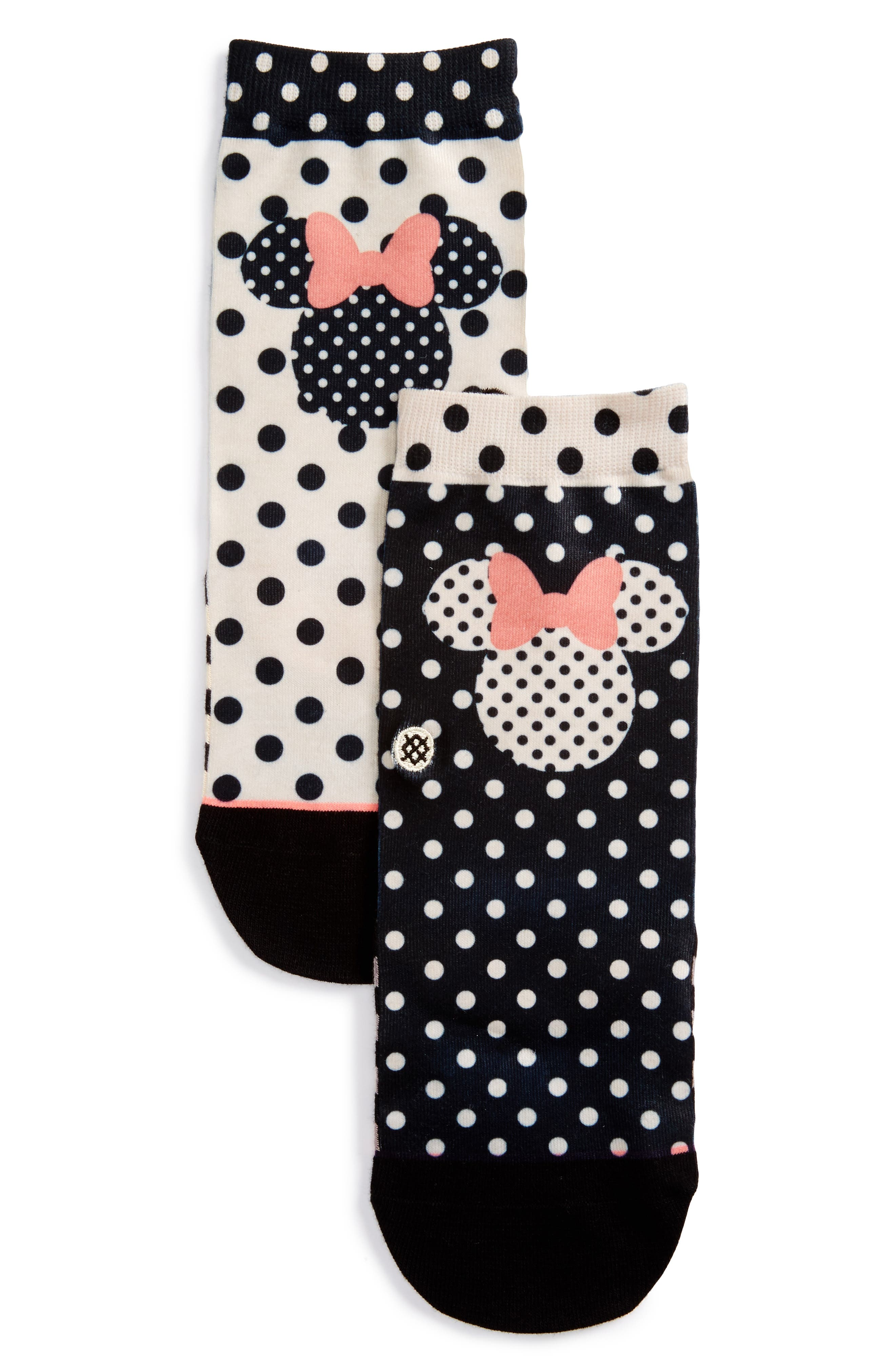 Details about  /STANCE Sprinkled Minnie Socks WomenBlack