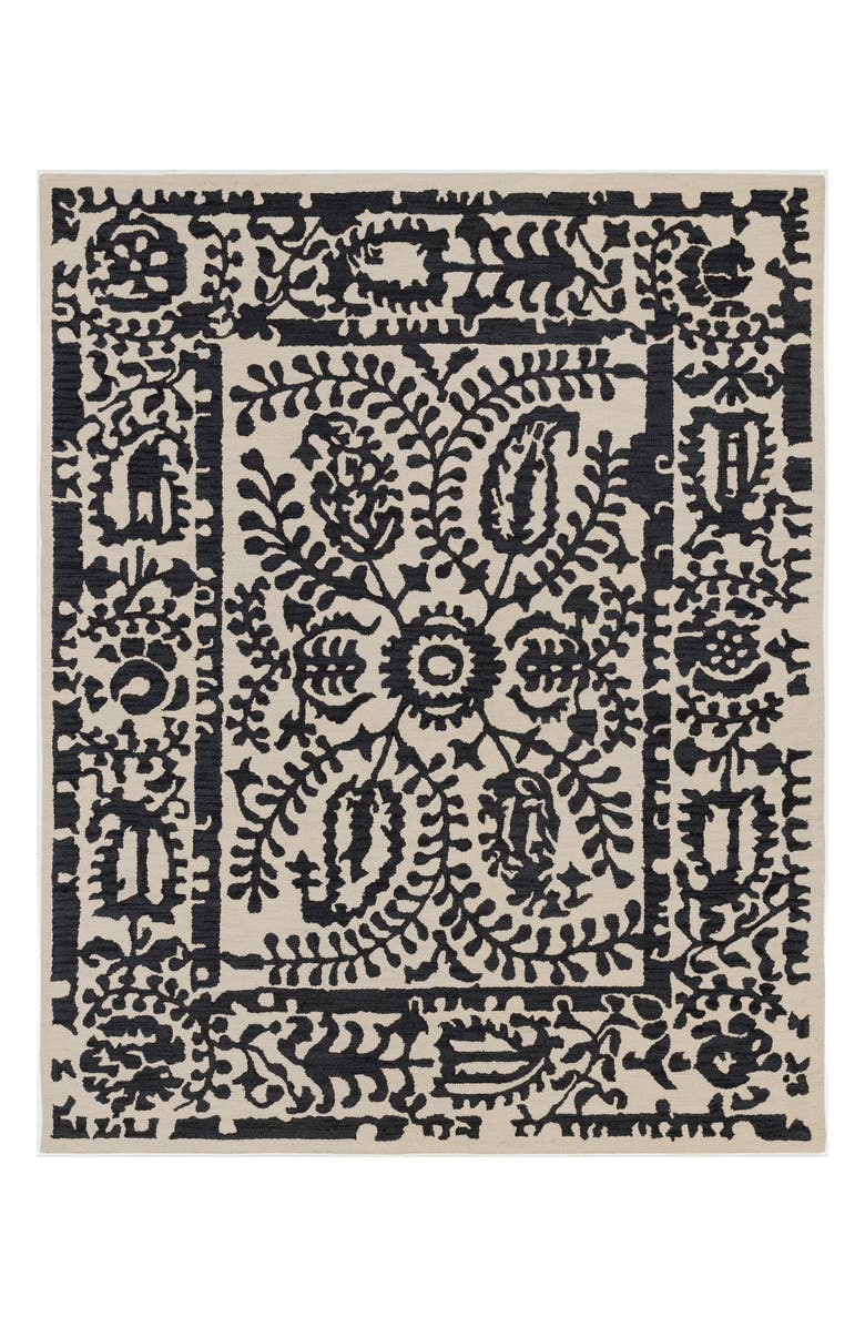 SURYA HOME Armelle Area Rug, Main, color, BLACK