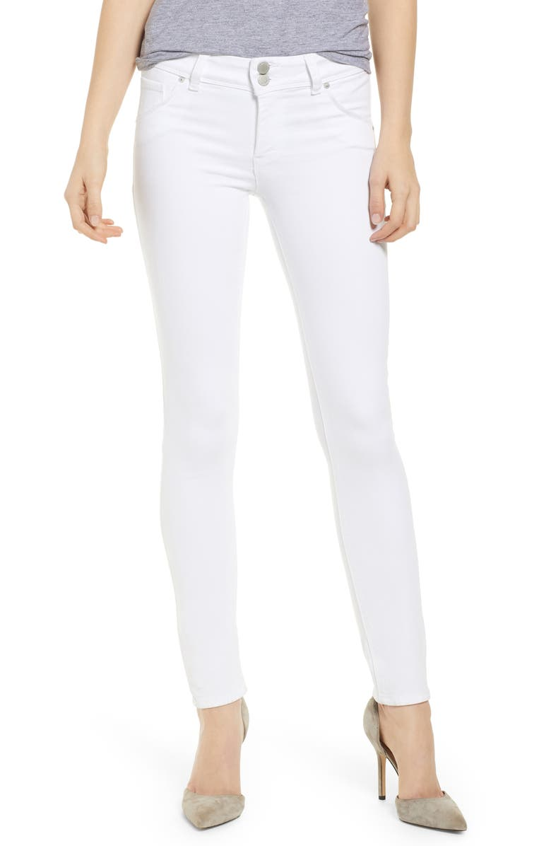 HUDSON JEANS Collin Skinny Jeans, Main, color, WHITE