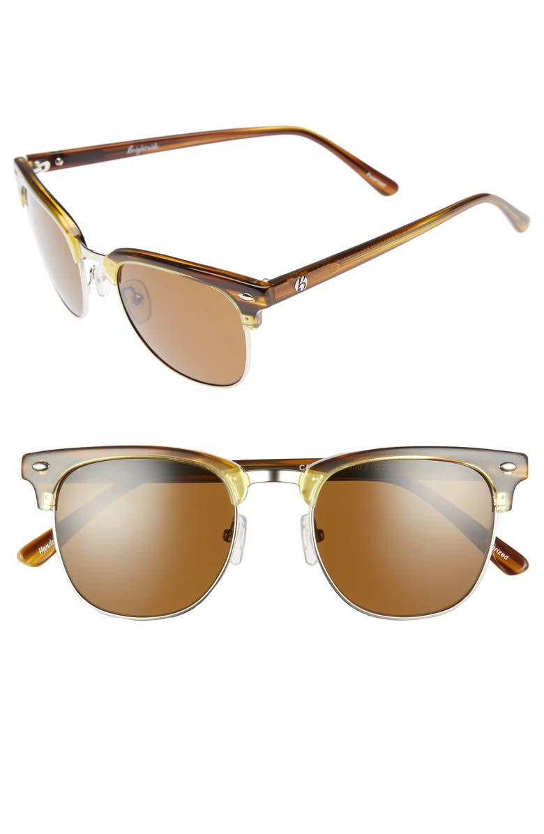 BRIGHTSIDE Copeland 51mm Polarized Sunglasses, Main, color, AMBER/ BROWN POLAR