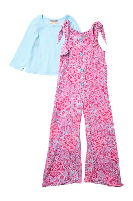 Image of Pastourelle by Pippa and Julie Mosaic Print 2-Piece Top & Jumpsuit Set