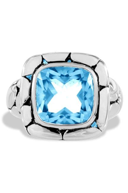 Image of JOHN HARDY Sterling Silver Batu Kali Gemstone Ring - Size 7