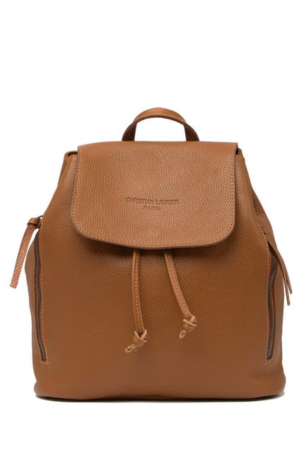 Image of CHRISTIAN LAURIER Roxy Flap Leather Backpack