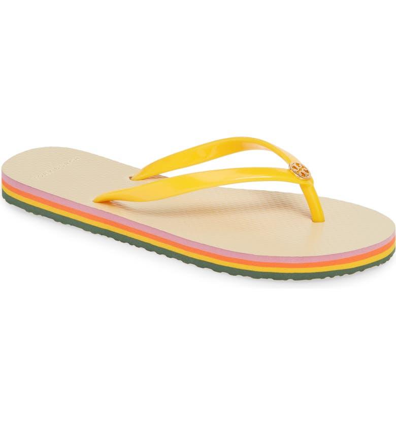 TORY BURCH Thin Flip Flop, Main, color, SOLAR/ CANYON STRIPE