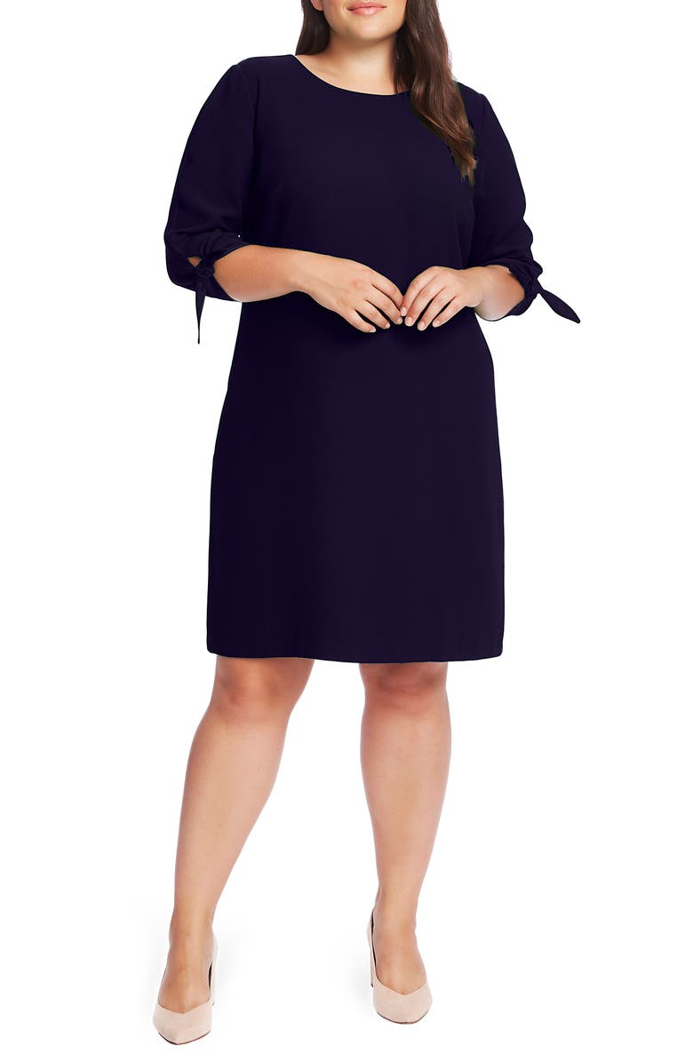 CECE Tie Sleeve Shift Dress, Main, color, CLASSIC NAVY