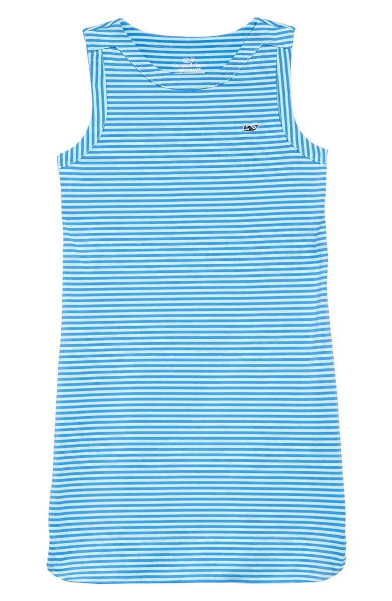VINEYARD VINES Sankaty Stripe Dress, Main, color, CRYSTAL BLUE