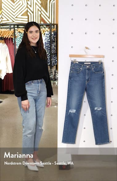 724<sup>™</sup> Ripped High Waist Crop Straight Leg Jeans, sales video thumbnail