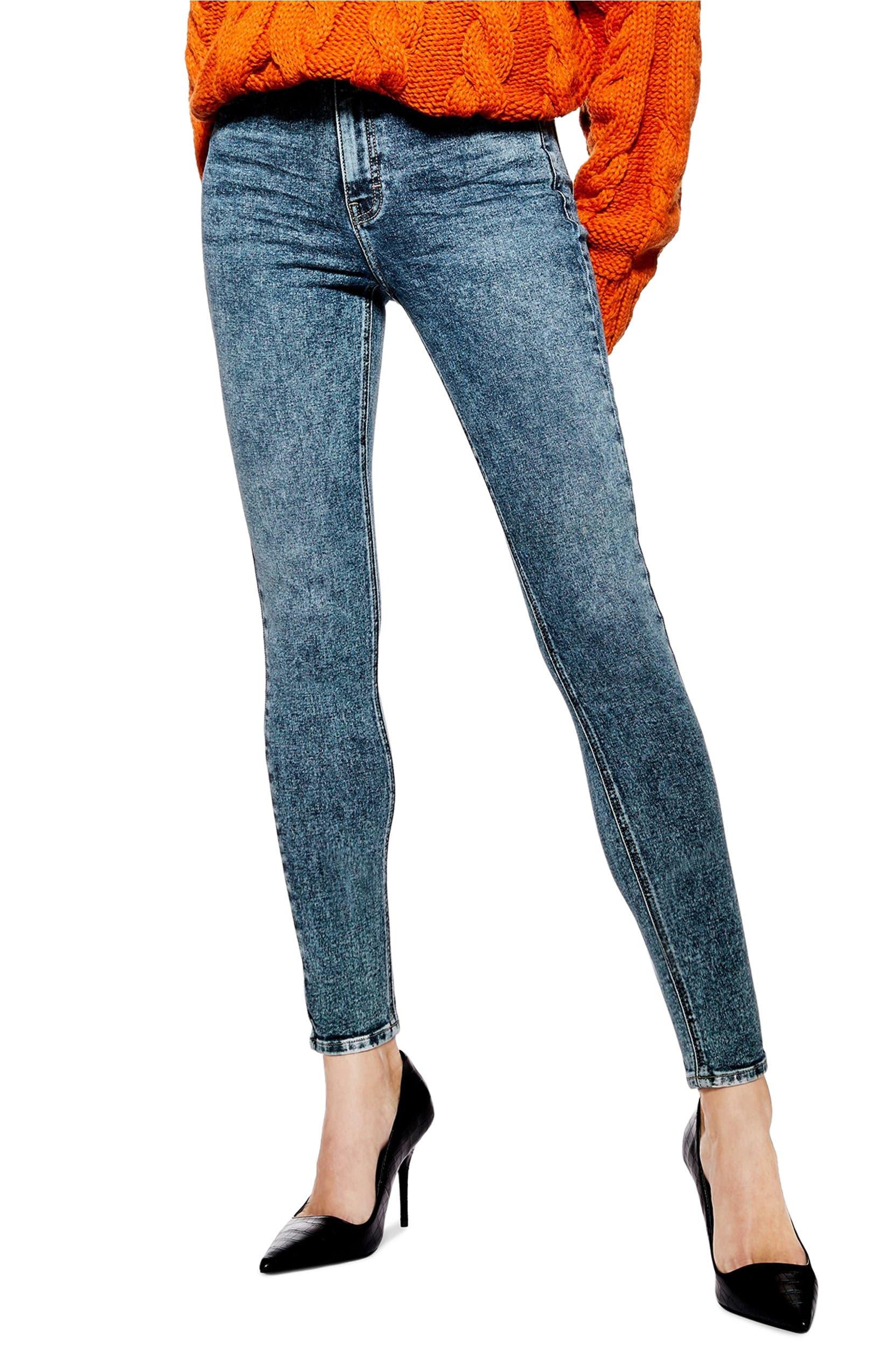 Jamie Acid Wash High Waist Skinny Jeans