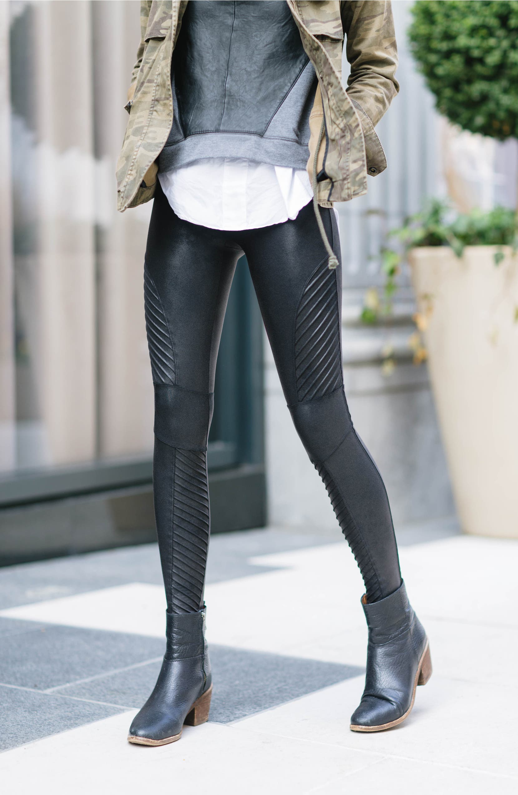 biggest selection sports shoes best place for Faux Leather Moto Leggings