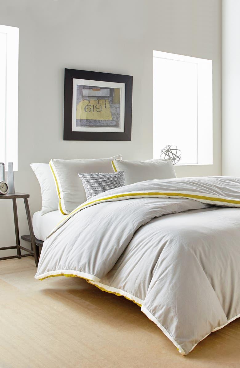 DKNY Sport Stripe Comforter & Sham Set, Main, color, 020