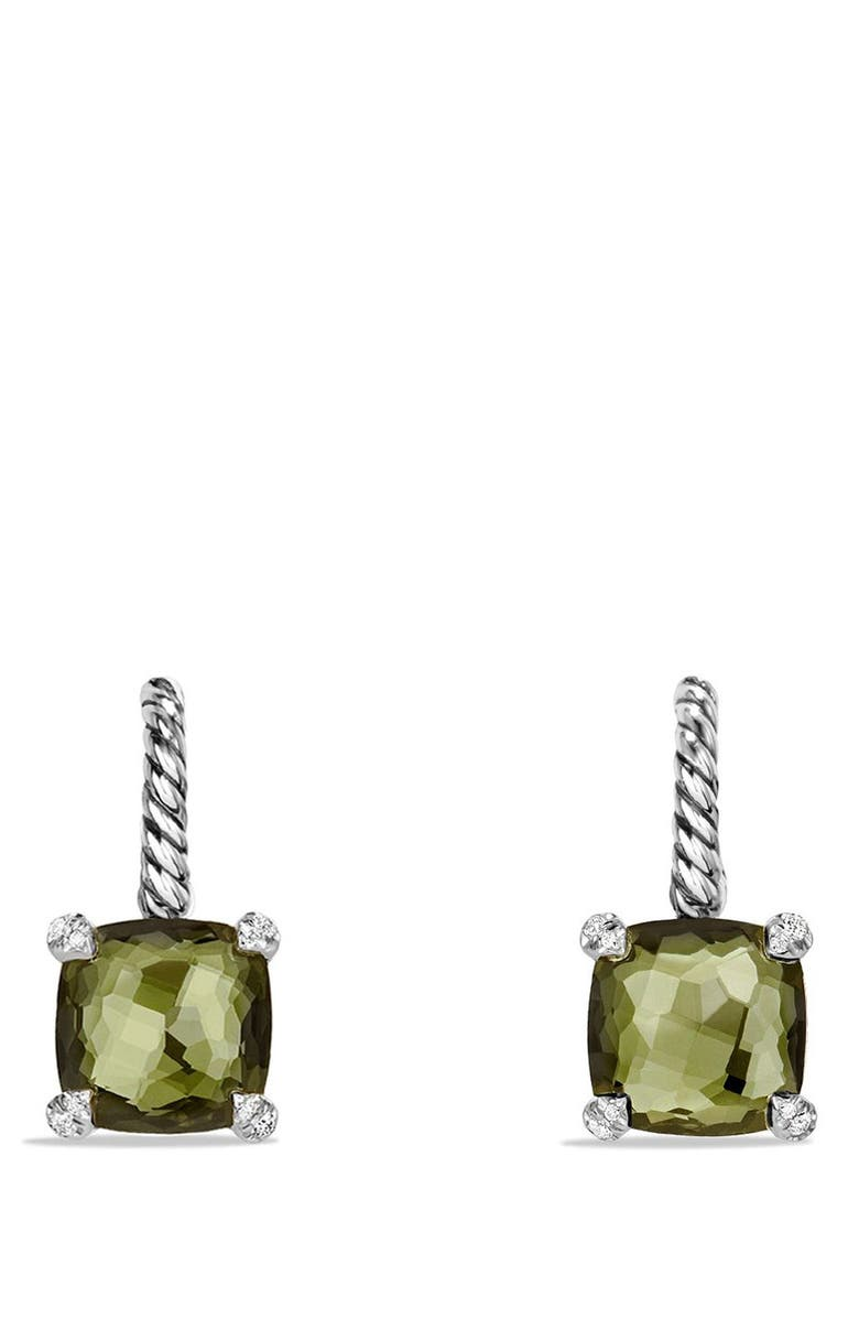 DAVID YURMAN 'Châtelaine' Drop Earrings with Semiprecious Stones and Diamonds, Main, color, SILVER/ CITRINE/ HEMATINE