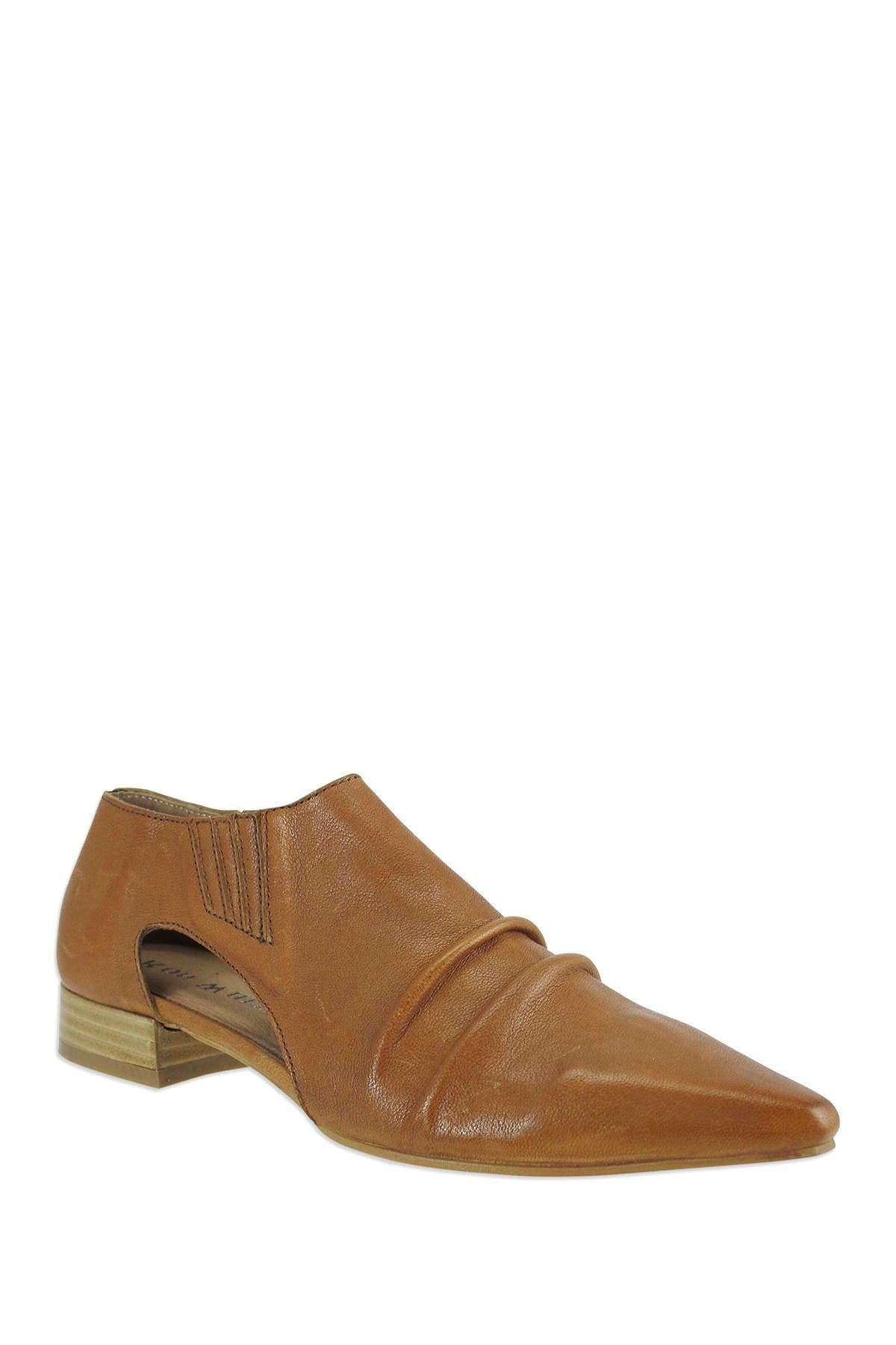 Image of RON WHITE Tessa Cutout Leather Ankle Bootie