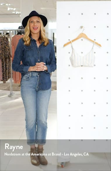 Bridget Stripe Bralette Bikini Top, sales video thumbnail