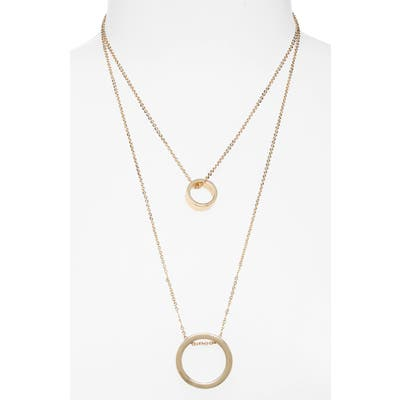 Bp. Circle Pendant Layered Necklace