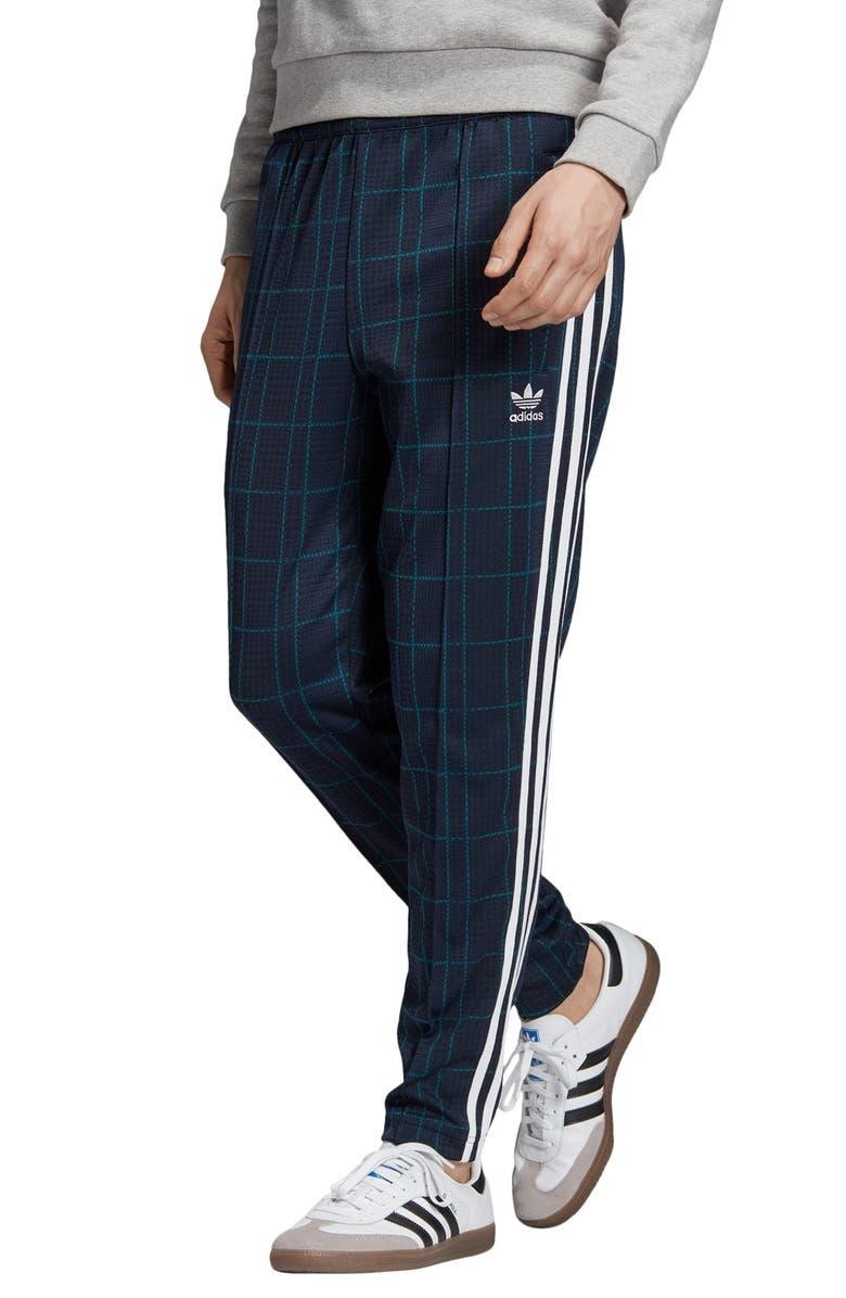 ADIDAS ORIGINALS Adicolor Tartan Track Pants, Main, color, MULTICOLOR/ COLLEGIATE NAVY