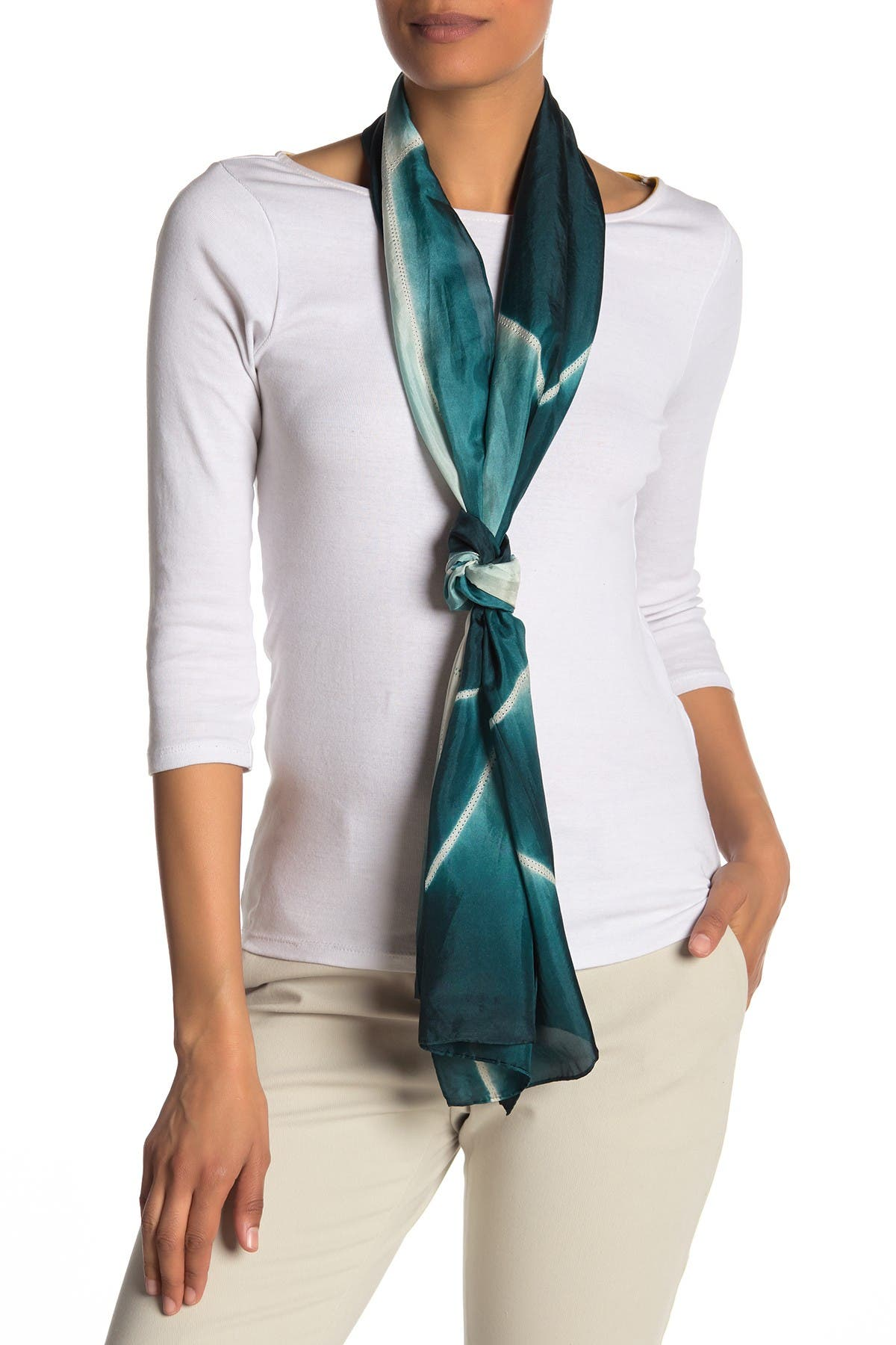 Image of Eileen Fisher Dotted Artisanal Silk Scarf
