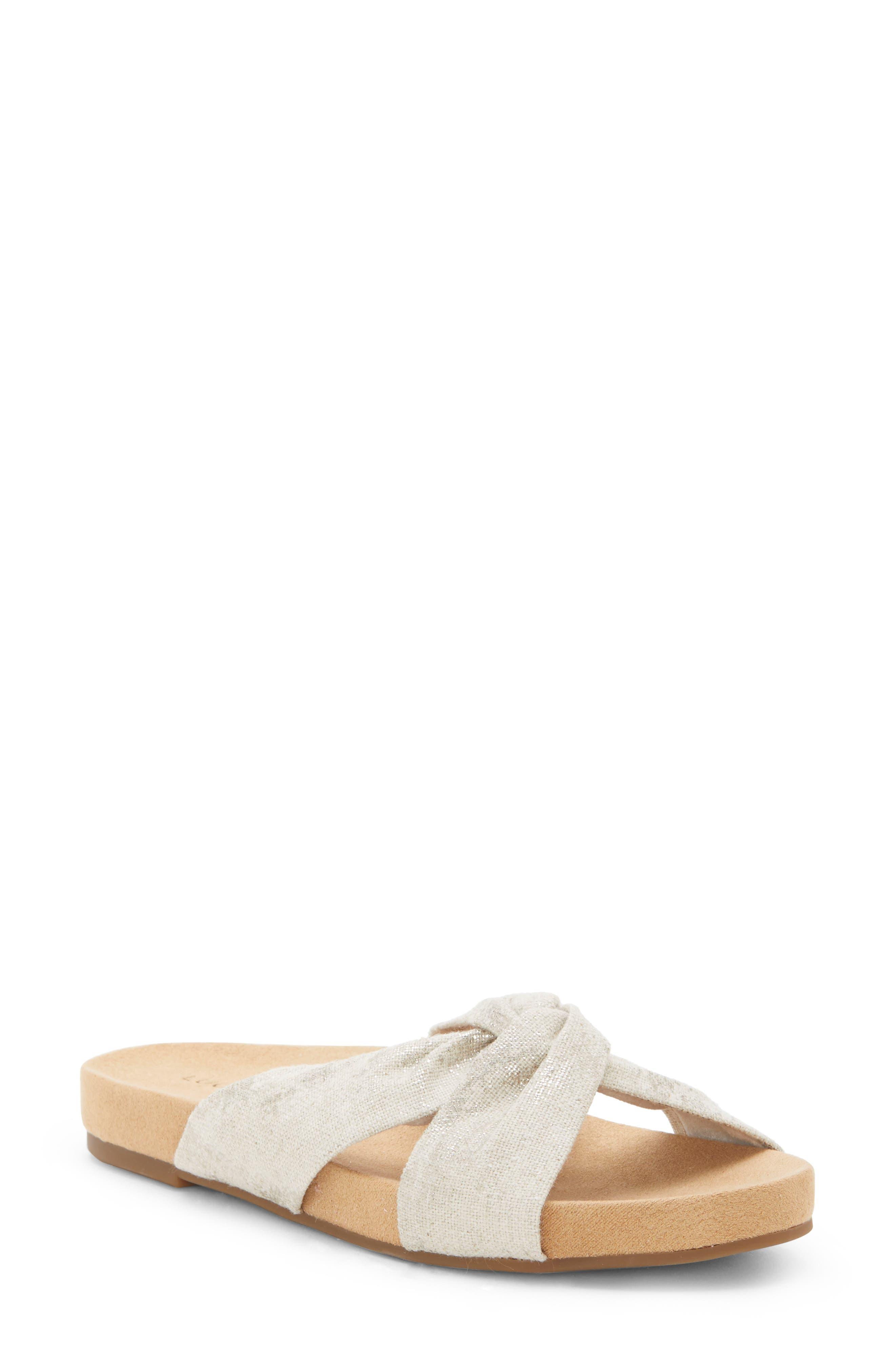Lucky Brand Fynna Slide Sandal, Metallic
