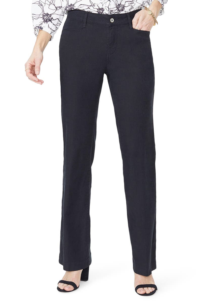 NYDJ Linen Trousers, Main, color, 001