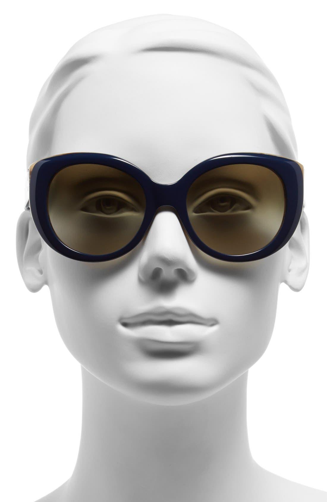 ,                             54mm Cat Eye Sunglasses,                             Alternate thumbnail 6, color,                             400