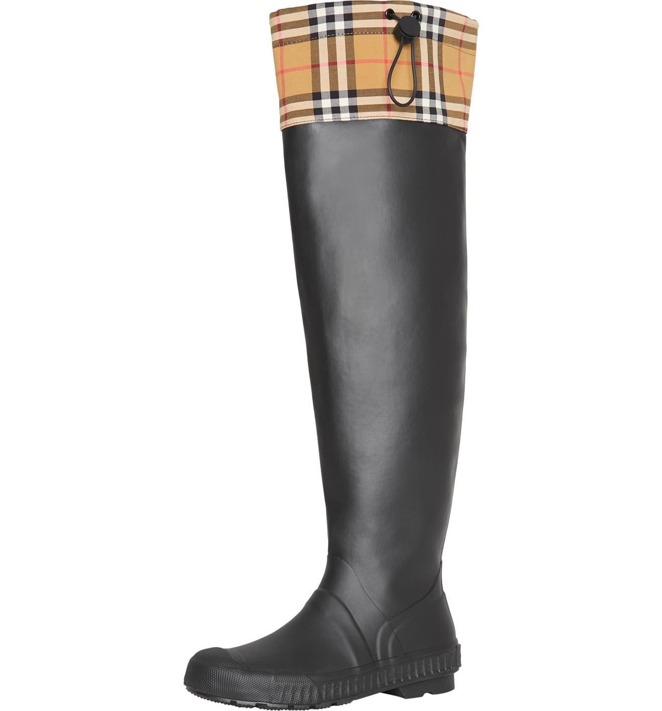 edc213367d Burberry Freddie Tall Waterproof Rain Boot (Women) | Nordstrom