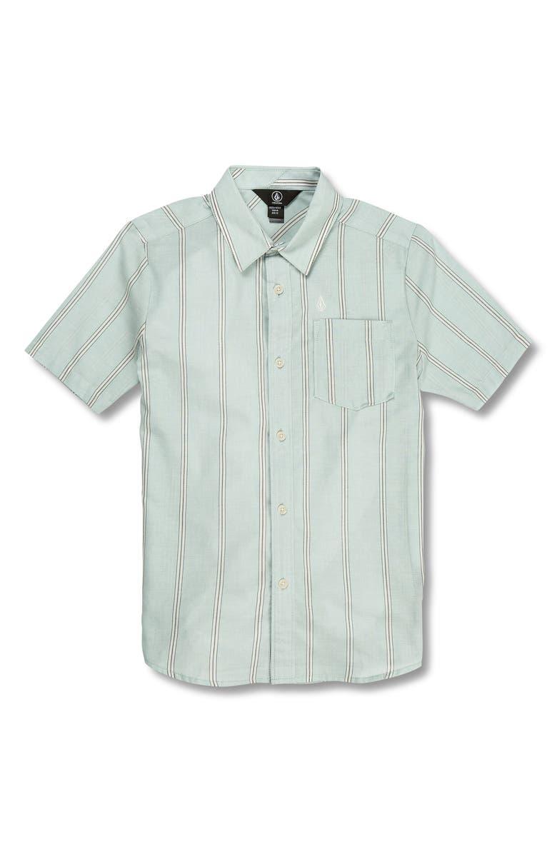 VOLCOM Rilee Woven Shirt, Main, color, SEAGLASS