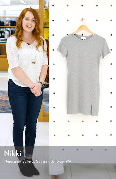 Rib Side Slit T-Shirt Dress, sales video thumbnail