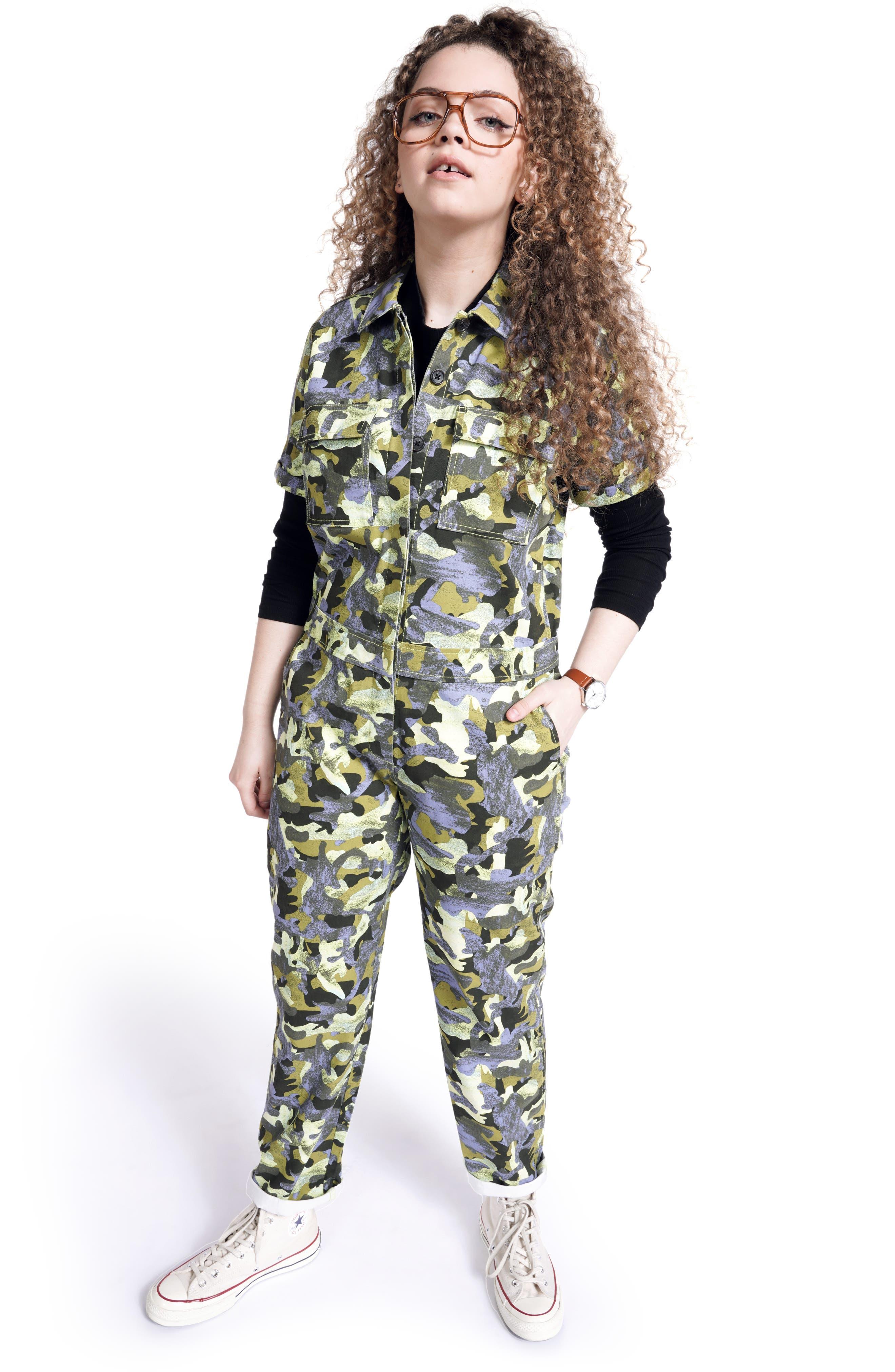 Plus Size Women's Bp. + Wildfang Utility Short Sleeve Jumpsuit