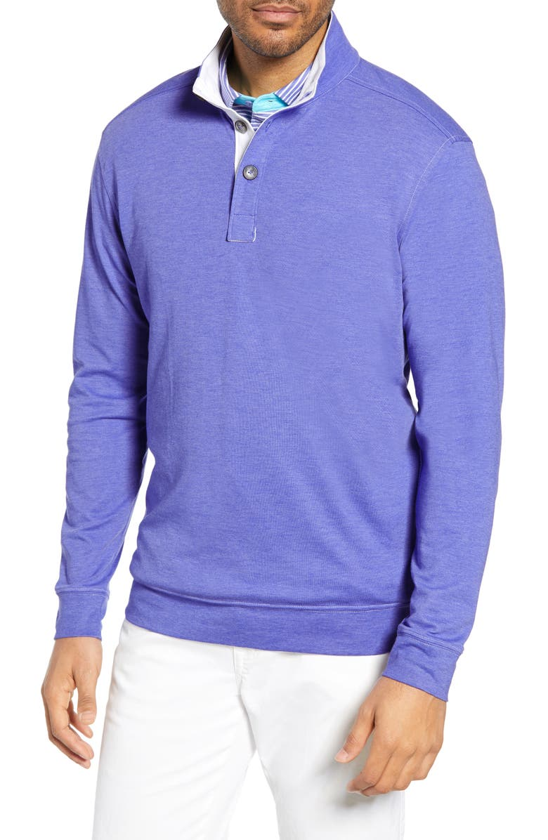 BOBBY JONES Leisure Luxe Pullover, Main, color, PURPLE PASSION