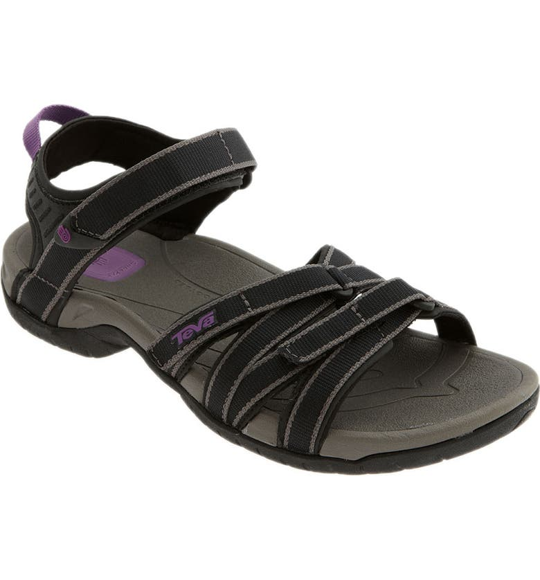 TEVA 'Tirra' Sandal, Main, color, BLACK